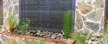 hand crafted water feature - stone