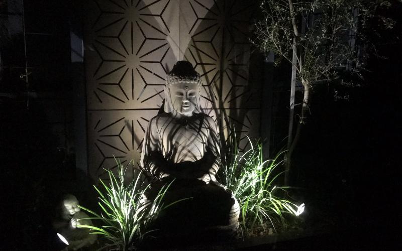 garden lighting small spaces