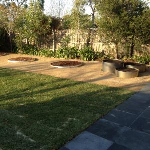 Backyard landscaping - Preston