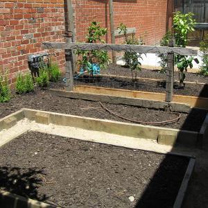 Backyard landscaping - Northcote