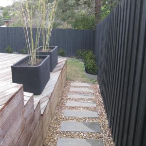 Townhouse landscape garden design - Montmorency